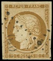 EMISSION DE 1849 - 1    10c. Bistre-jaune, Oblitéré PC Léger, TTB - 1849-1850 Ceres