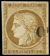 EMISSION DE 1849 - 1    10c. Bistre-jaune, Oblitéré OR, TB. Br - 1849-1850 Ceres