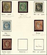 EMISSION DE 1849 - 1/6 Obl. Grille, Etoile Ou PC, N°1, 2 Et 6 Signés C Ou Br - 1849-1850 Ceres