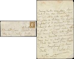 Let EMISSION DE 1849 - 1    10c. Bistre-jaune, Oblitéré OR (3 Fois) S. LAC, TB. C - 1849-1876: Periodo Classico