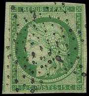 EMISSION DE 1849 - 2    15c. Vert, Amorce De Voisin à Gauche, Obl. ETOILE, TTB - 1849-1850 Ceres