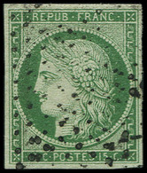 EMISSION DE 1849 - 2    15c. Vert, Obl. ETOILE, TB. C - 1849-1850 Ceres