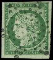 EMISSION DE 1849 - 2b   15c. Vert FONCE, Oblitéré ETOILE, TB - 1849-1850 Ceres