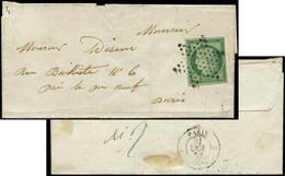 Let EMISSION DE 1849 - 2    15c. Vert, Obl. ETOILE S. LSC Locale, Arr. 21/10/52, TTB - 1849-1876: Periodo Classico
