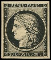 ** EMISSION DE 1849 - 3    20c. Noir Sur Jaune, Très Frais, TTB. C - 1849-1850 Ceres