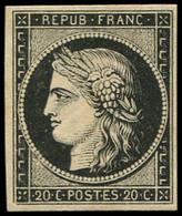 * EMISSION DE 1849 - 3    20c. Noir Sur Jaune, Frais Et TTB. M - 1849-1850 Ceres