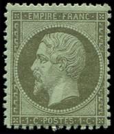 ** EMPIRE DENTELE - 19    1c. Olive, TB - 1862 Napoleon III