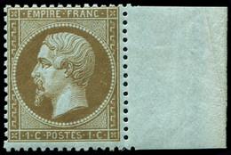 ** EMPIRE DENTELE - 19b   1c. MORDORE, Bdf, Frais Et TB - 1862 Napoleon III