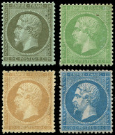 * EMPIRE DENTELE - 19/22, 1c., 5c., 10c. Et 20c., Petits Défauts, Aspect TB - 1862 Napoleon III