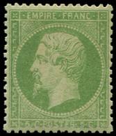 ** EMPIRE DENTELE - 20    5c. Vert, Très Bon Centrage, TTB - 1862 Napoleon III