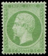 * EMPIRE DENTELE - 20    5c. Vert, TB - 1862 Napoleon III