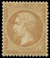 * EMPIRE DENTELE - 21   10c. Bistre, Très Bien Centré, Ch. Légère, TTB. J - 1862 Napoleon III