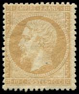 * EMPIRE DENTELE - 21   10c. Bistre, Centrage Habituel, Frais Et TB - 1862 Napoleon III