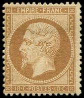 * EMPIRE DENTELE - 21b  10c. Bistre-brun, Frais Et TB - 1862 Napoleon III