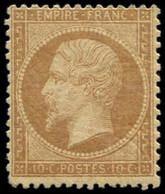 * EMPIRE DENTELE - 21b  10c. Bistre-brun, 2 Pts Clairs, Aspect TB - 1862 Napoleon III
