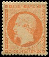 * EMPIRE DENTELE - 23   40c. Orange, Frais Et TB. Br - 1862 Napoleon III