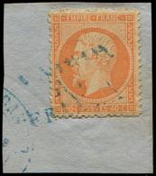 EMPIRE DENTELE - 23   40c. Orange, Obl. Càd Bleu VOPOR/DE/FRANCIA S. Fragt, TB - 1862 Napoleon III