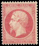 ** EMPIRE DENTELE - 24c  80c. Rose Clair, TTB - 1862 Napoleon III