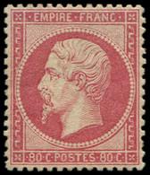 * EMPIRE DENTELE - 24c  80c. Rose Clair, Bon Centrage, TB. Br - 1862 Napoleon III