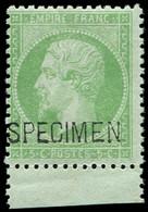 ** EMPIRE DENTELE - S20f  5c. Vert, SPECIMEN, Bdf, TB. C - 1862 Napoleon III
