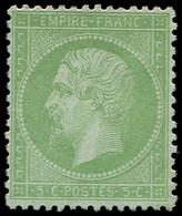 * EMPIRE LAURE - 35    5c. Vert Pâle Sur Bleu, Frais Et TB - 1862 Napoleon III