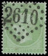 EMPIRE LAURE - 35    5c. Vert Pâle Sur Bleu, Obl. GC 2610, TB. C - 1862 Napoleon III