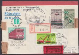 Mi-Nr. U3, R- Eilboten Mit Rückschein, Pass. Zusatzfr. - Sobres - Usados