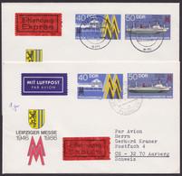 Mi-Nr. U4, 2x Portogerechte Eilboten- Luftpost In Die Schweiz, Abgang Versch. Berliner Postämter - Sobres - Usados