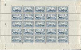 ** EMISSIONS DU XXème SIECLE - 300   Normandie, 1f.50 Bleu Clair, FEUILLE De 25 Datée 15/5/36, Un Grain S. Un T., Sinon  - Full Sheets