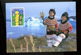GROENLAND-2000-Europa, Colombe, Costume-Carte Maximum - 2000