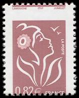 ** VARIETES - 3757   Lamouche, 0,82 Lilas-brun, T II, PIQUAGE à CHEVAL, TB - Abarten: 2000-09 Ungebraucht