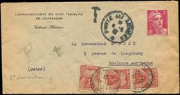 Let LETTRES DU XXe SIECLE - N°719A Démonétisé Sur Env. Des Troupes En Allemagne, Càd POSTES AUX ARMEES, Taxe 83 Unité Et - Lettres & Documents