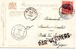 Cachet Par Verviers Op Postkaart/ Sur CP  Elberfeld - Unclassified