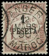 MAROC Taxe 5 : 1p. Sur 1f. Marron, Obl. Càd TANGER 12/3/96, TB - Sin Clasificación