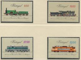 PORTUGAL / MiNr. 1540 - 1543 / 125 Jahre Eisenbahn In Portugal / Postfrisch / ** / MNH - Trenes