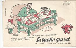 CE /  Vintage French Blotter / Buvard Ancien // BUVARD Ancien Thème FROMAGE La Vache Qui Rit N°6 METIERS ECRIVAIN - F