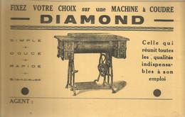 CE /  Vintage French Blotter / Buvard Ancien // BUVARD Ancien Thème MACHINE A COUDRE DIAMOND - D