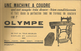 CE /  Vintage French Blotter / Buvard Ancien // BUVARD Ancien Thème MACHINE A COUDRE OLYMPE - O
