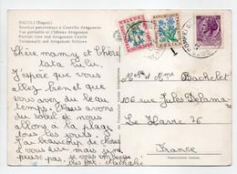 - Carte Postale POMPEI (Italie) Pour LE HAVRE 7.8.1972 - TAXÉE 30 C. + 10 C. Type Fleurs Des Champs - - 1960-.... Briefe & Dokumente