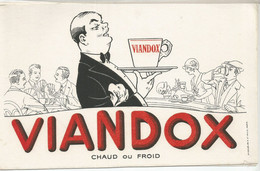 CE /  Vintage French Blotter / Buvard Ancien // BUVARD Ancien Thème VIANDOX Serveur CHAUD FROID - V