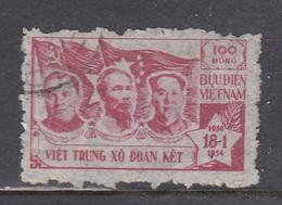 Vietnam Nord 1954 - Friendship Between Vietnam, USSR And China, Mi-Nr. 9, Used - Vietnam