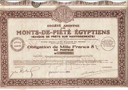 75-MONTS DE PIETIE EGYPTIENS. SA DES ...  Banque De Prêts Sur Nantissements.  Lot De 4 - Other