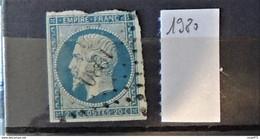 11 - 20 - France N°14 Oblitéré PC 1980 - Meulan - Seine Et Oise - 1853-1860 Napoleone III