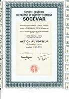75-SOGEVAR. Sté Gle D'Epargne Et D'Investissement - Other