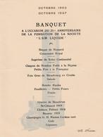 """RARE -Société """"l'air Liquide """"  1927 - Menu Du Banquet Du 25ième Anniversaire  + Petit Fascicule - Menus"""