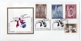- Carte Postale VIENNE 21.11.1988 - MUSIQUE ET TOURISME - Bel Affranchissement Philatélique - - 1981-90 Cartas