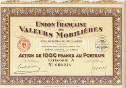 75-UNION FRANCAISE DE VALEURS MOBILIERES. - Other