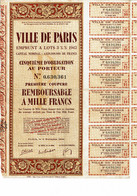 75-VILLE DE PARIS. EMPRUNT A LOT 1942 Obligation - Other
