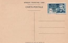 A E F Timbres140A à 140D Sur Carte Postal Neuf - Unclassified