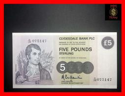 SCOTLAND 5 £  18.9.1987  P. 212  CB   AU \ UNC - 5 Pounds